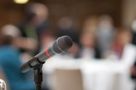 listeners: Indoor business conference for managers.
