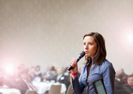 Indoor Business-Konferenz für Führungskräfte.