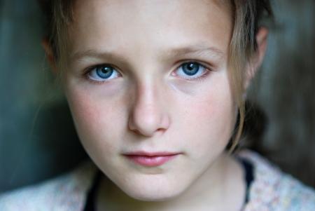 pretty little girl: Sad little girl feels lonely