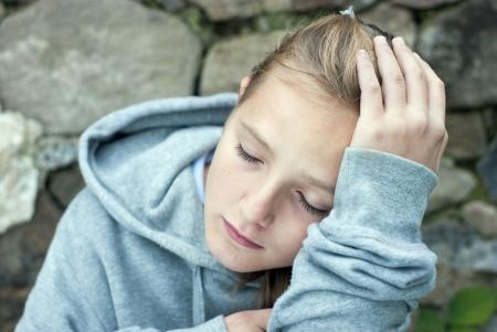 homeless children: Little sad child is lonesome. Stock Photo