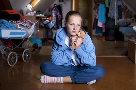 Sad teenager is in depression  Stock Photo - 18608518