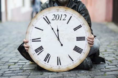 Man is waiting for end of the world. Stock Photo - 16408458