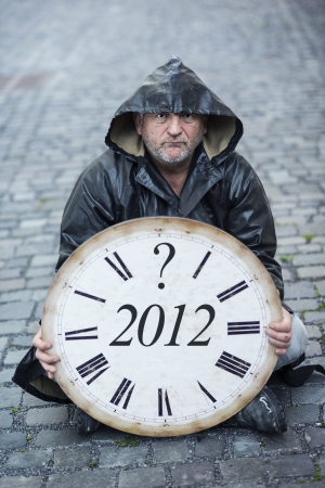 Man is waiting for end of the world  photo