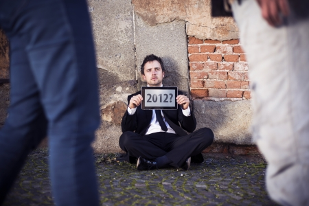 Man is waiting for end of the world. Stock Photo - 16334578