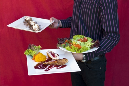 sweet and savoury: Tasty food from restaurant is ready to eat