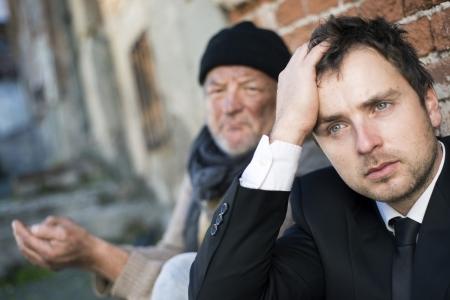 clochard: Disoccupati manager � sulla strada.