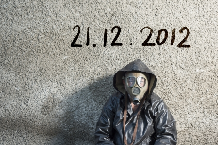 Man is waiting for end of the world. Stock Photo - 16436890