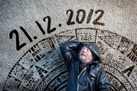 Man is waiting for end of the world. Stock Photo - 16436833