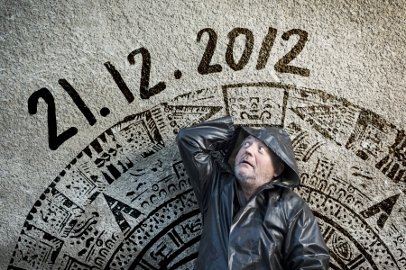 Man is waiting for end of the world. Stock Photo - 16436863
