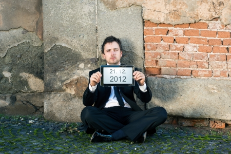 Man is waiting for end of the world. Stock Photo - 16436856