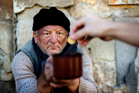 clochard: Mendicante Archivio Fotografico