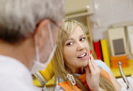 Patient is having a dental treatment Stock Photo - 17109571