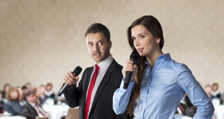 Indoor business conference for managers in hotel Stock Photo - 17289480