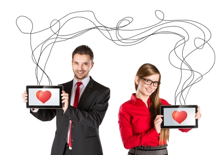 Funny love in social media and internet communication Stock Photo - 17644502