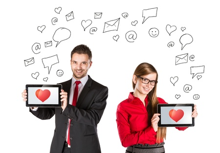 Funny love in social media and internet communication  Stock Photo - 17644499