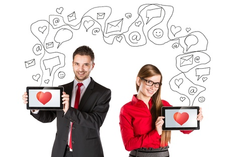 Funny love in social media and internet communication  photo