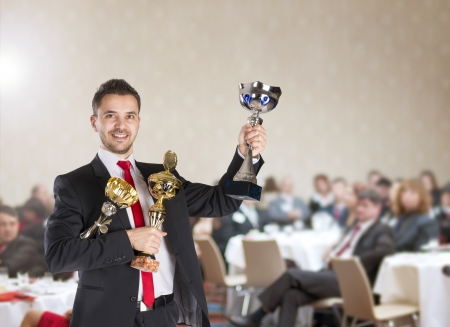 reward: Public indoor business conference for modern managers.