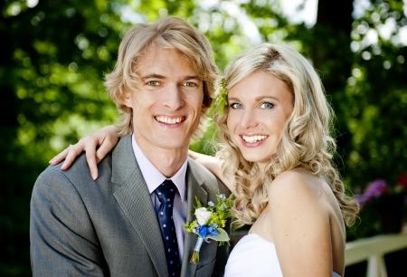 lovely couple: Beautiful wedding couple is enjoying wedding
