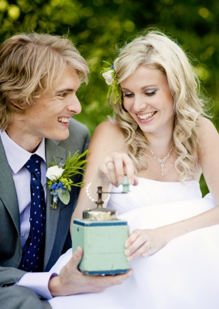 Beautiful wedding couple is enjoying wedding  Stock Photo - 17917681