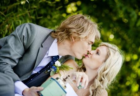 Beautiful wedding couple is enjoying wedding Stock Photo - 17972147