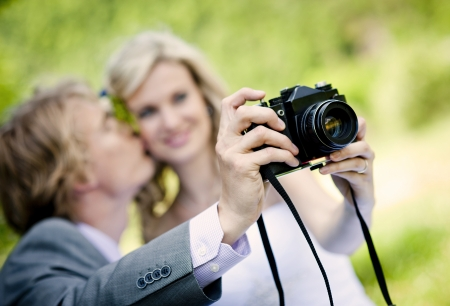 Beautiful wedding couple is enjoying wedding  Stock Photo - 17917660