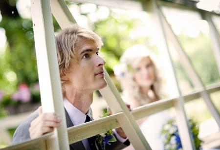 Beautiful wedding couple is enjoying wedding Stock Photo - 17936097