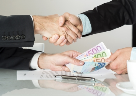 Businessmen are signing a contract, business contract details Stock Photo - 20208508