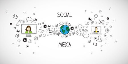 ソーシャル メディアのベクトル イラスト