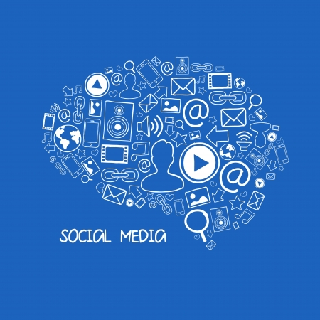 Social media vector illustration Vector