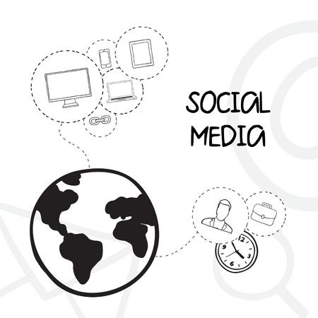 Social media vector illustration Stock Vector - 20609153