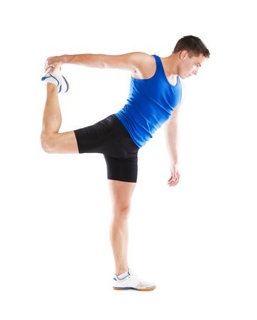 Studio fitness portrait isolated on white background photo
