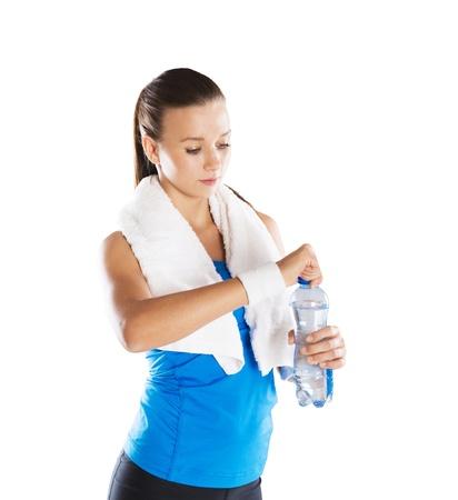 Studio fitness portret geïsoleerd op witte achtergrond