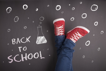 Creative concept with Back to school theme photo