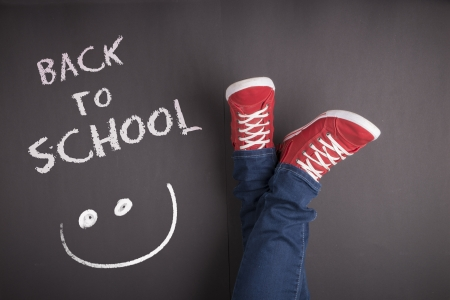 Creative concept with Back to school theme Stock Photo