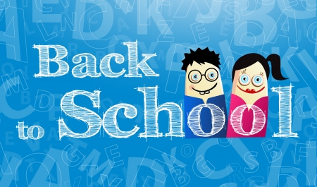 illustration with Back to school theme Vector