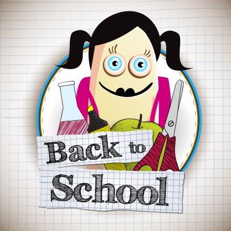 Back to school vector illustration illustration