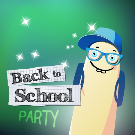 illustration with Back to school theme illustration