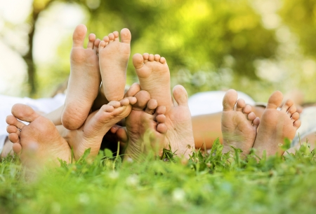 family grass: Happy family