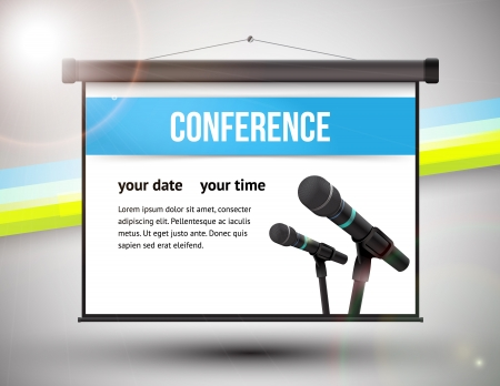 conference audience: Business design vector illustration with space for text Stock Photo