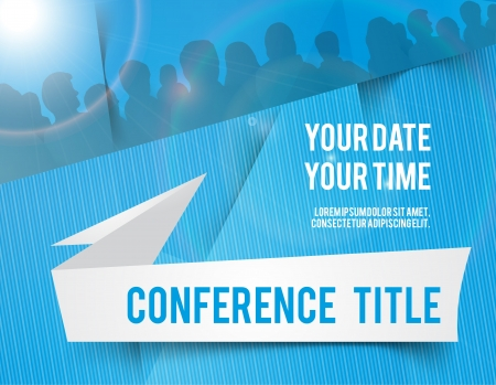 conference audience: Conference tamplate illustration with space for your texts Stock Photo