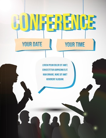 Conference tamplate illustration with space for your texts Stock Photo