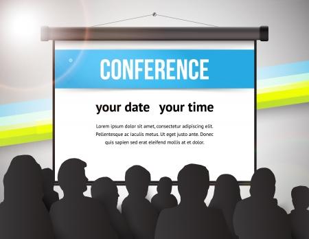 Tamplate Conférence illustration avec l'espace pour vos textes Banque d'images - 21724737