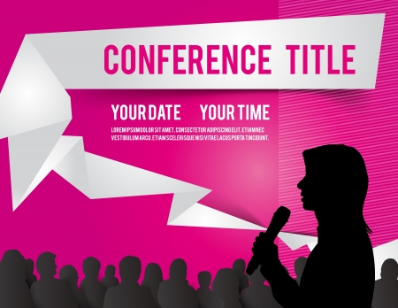 conference meeting: Conference tamplate illustration with space for your texts Illustration