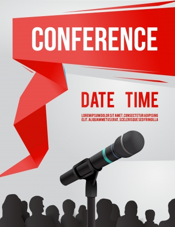 media equipment: Conference tamplate illustration with space for your texts Illustration