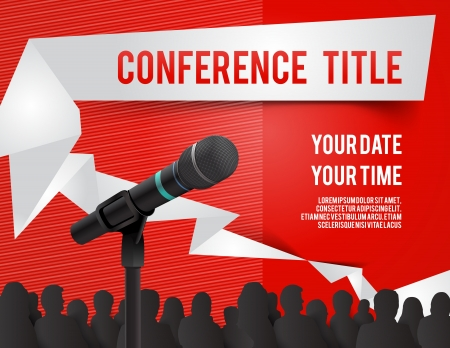 Conference tamplate illustration with space for your texts Vector