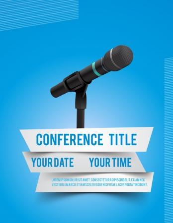 Tamplate Conférence illustration avec l'espace pour vos textes Vecteurs