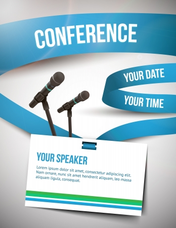 lecturer: Conference tamplate illustration with space for your texts Illustration