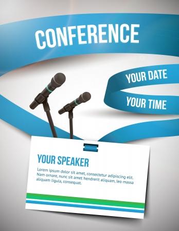 Conferentie tamplate illustratie met ruimte voor uw teksten