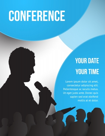 public speaker: Conference tamplate illustration with space for your texts Illustration