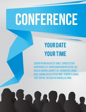 corporativo: Conferencia ilustración tamplate con espacio para sus textos